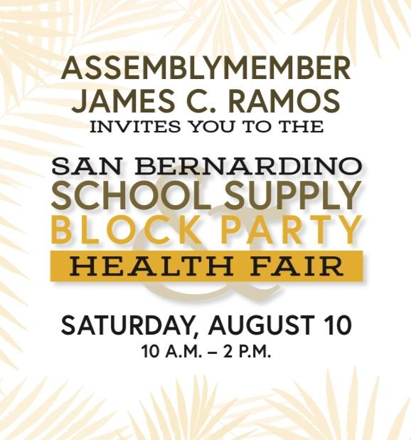 San Bernardino School Supply Block Party & Health Fair