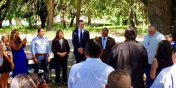 Governor Newsom Gathers with Tribal Leaders to Hold a Blessing and Discuss California's Historical Mistreatment of Native Americans