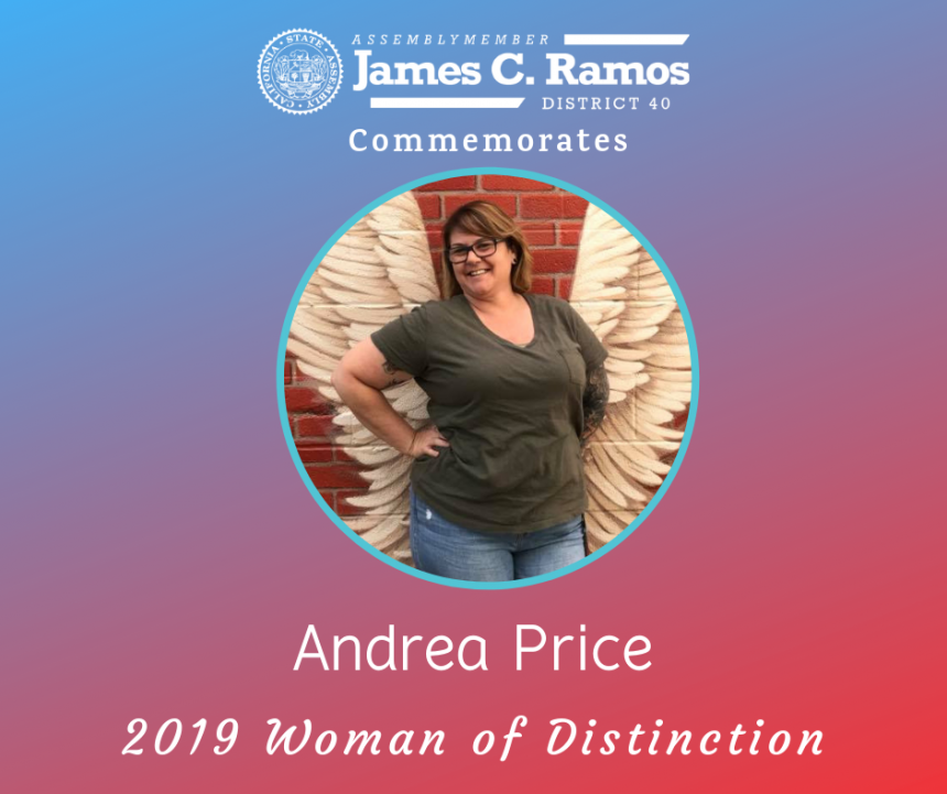 Woman of Distinction, Andrea Price