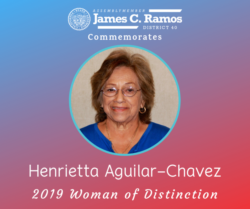 Woman of Distinction, Henrietta Aguilar-Chavez