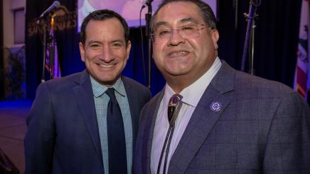 Assemblymember James C. Ramos with Speaker Anthony Rendon